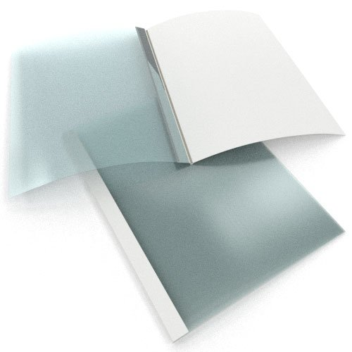 """3/8"""" White Linen Thermal Binding Utility Covers - 70pk (SO215T380WH) - $98 Image 1"""
