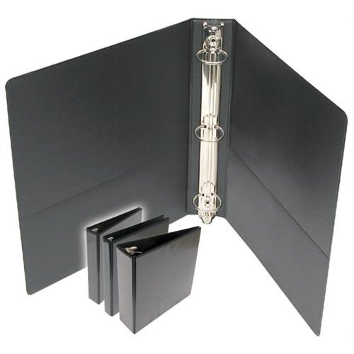 "3"" Premium Black Round Ring Clear View Binders - 12pk (DRRCV300BK) Image 1"