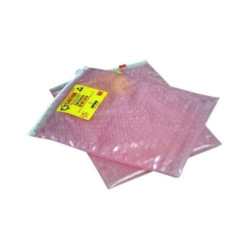 "SealerSales 12.25"" x 12"" 3-Layer Pink Anti-Static Cushion Pouches with Slider Zipper - 250pk (SZB883-1212-250) Image 1"