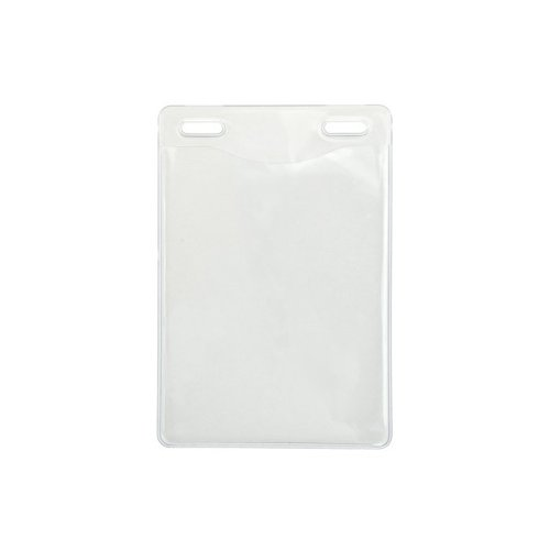"3"" x 4"" Event Size Clear Vinyl Vertical Badge Holders with 2 Slot Holes - 100pk (1815-1451), MyBinding brand Image 1"