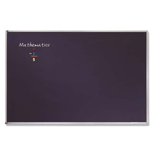 Quartet 3' x 4' Black Porcelain Classroom Chalkboard (QRT-PCA304B) - $140.86 Image 1