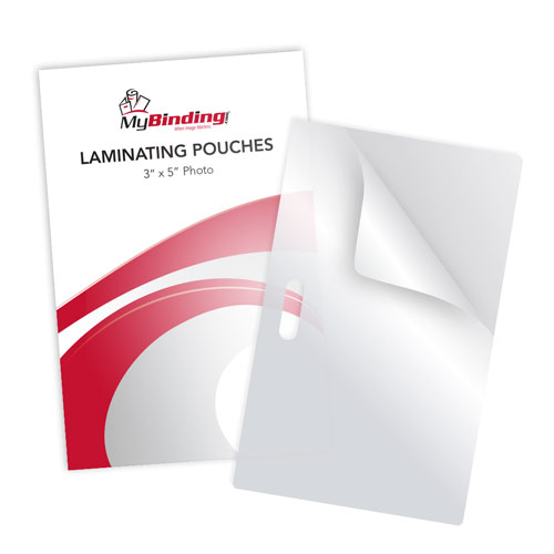 "3"" x 5"" Photo Card Laminating Pouches with Long Side Slot - 100pk (MYLSLLKLPPHOTO3x5), MyBinding brand Image 1"