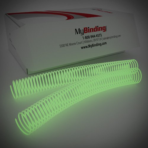 30mm Glow in the Dark 4:1 Pitch Spiral Binding Coil - 100pk (P4GID3012) Image 1