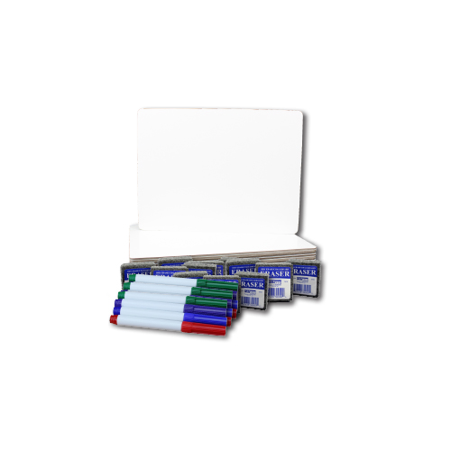 "Flipside 9"" x 12"" Dry Erase Lap Board with Colored Pen and Student Eraser - Set of 12 Each (FS-31003), Flipside brand Image 1"