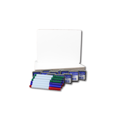 "Flipside 9"" x 12"" Magnetic Dry Erase Lap Board with Colored Pen and Eraser - Set of 12 Each (FS-31004) Image 1"