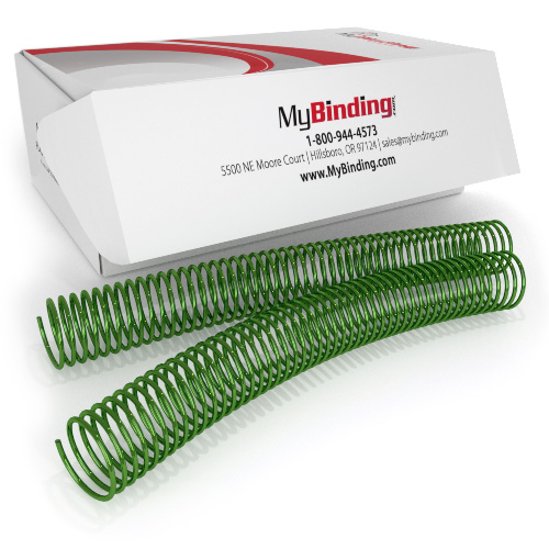 32mm Apple Green 4:1 Pitch Spiral Binding Coil - 100pk (P4AG3212) Image 1