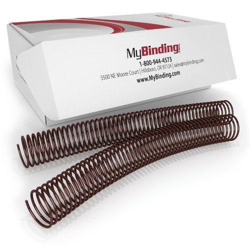 32mm Medium Brown 4:1 Pitch Spiral Binding Coil - 100pk (P4MB3212) - $95.99 Image 1