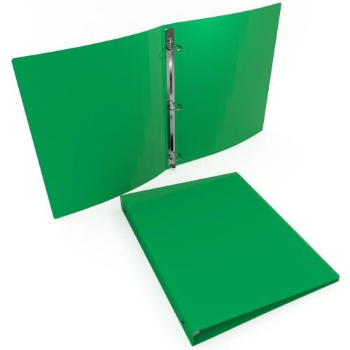 "3/4"" Emerald 35 Gauge 11"" x 8.5"" Poly Round Ring Binders - 100pk (MYPBEMRD35340) Image 1"