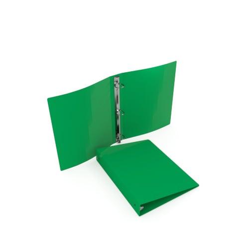 "1/2"" Emerald 35 Gauge 5.5"" x 8.5"" Poly Round Ring Binders - 100pk (MYPBEMRD35120H) Image 1"