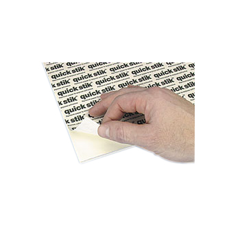 "White 3/16"" Foam Core Permanent Adhesive 8.5"" x 11"" Mounting Boards - 10pk (550553P) - $14.72 Image 1"
