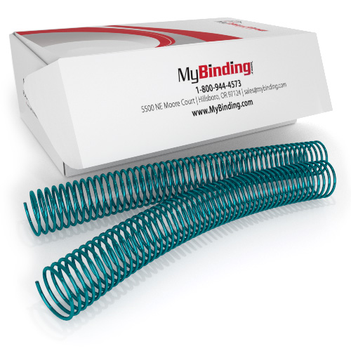 35mm Dark Teal 4:1 Pitch Spiral Binding Coil - 100pk (P4DT3512) Image 1