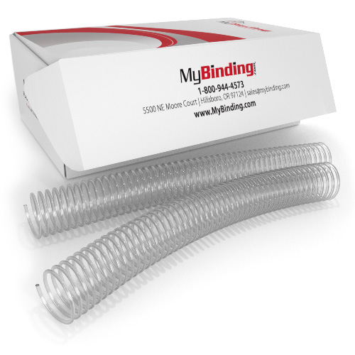 35mm Clear 4:1 Pitch Spiral Binding Coil - 100pk (P100-35-12) Image 1
