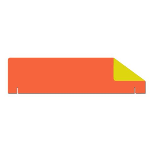 "Flipside 36"" x 10"" 1-Ply Orange/Yellow Two-Sided Corrugated Project Board Headers - 24pk (FS-56270) - $40.53 Image 1"