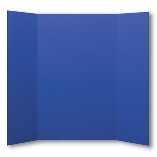 "Flipside 36"" x 48"" 1-Ply Blue Corrugated Project Boards - 24pk (FS-30065) Image 1"