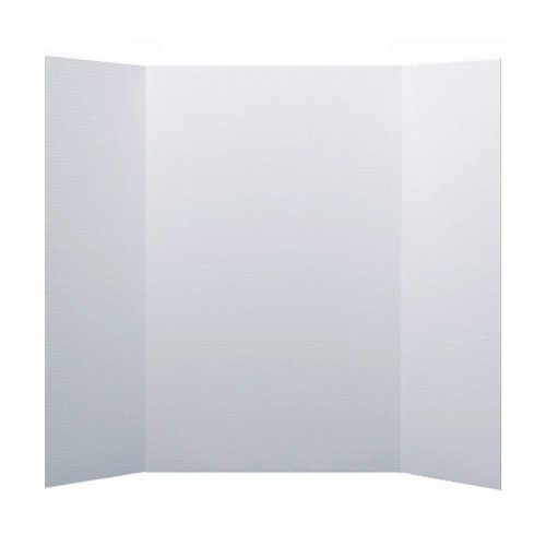 "Flipside 36"" x 48"" 1-Ply Bleached White Corrugated Project Boards - 24pk (FS-30042) Image 1"