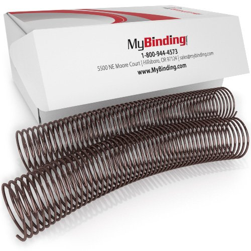 38mm Brown 4:1 Pitch Spiral Binding Coil - 100pk (P4BR3812) Image 1