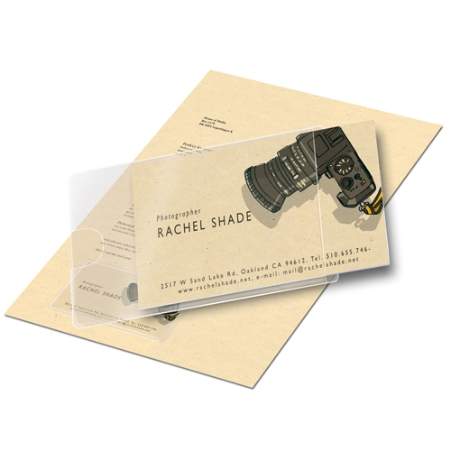 Adhesive Business Card Pockets
