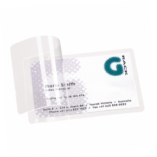 Laminating Pouches Business Card Size Image 1