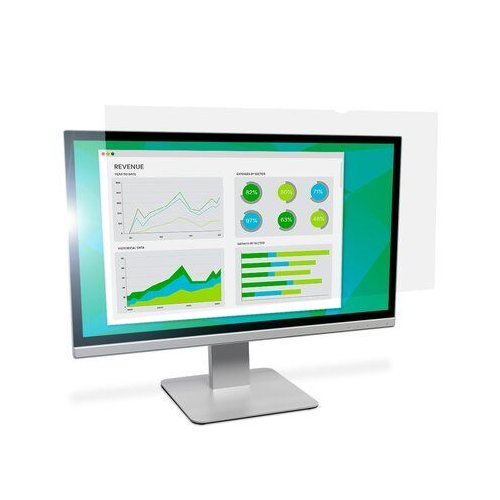 "3M Anti-Glare Filter for 23.8"" Widescreen Monitor (16:9 aspect ratio) (AG238W9B), Work from Home Products Image 1"