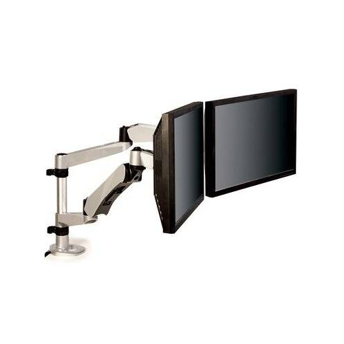 3M Easy Adjust Desk Mount Dual Monitor Arm (Silver) (MA265S) Image 1
