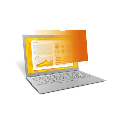 3M Gold Privacy Filters for Widescreen Laptop with COMPLY Attachment System (16:9 aspect ratio) (GRP-GFW9B), Brands Image 1