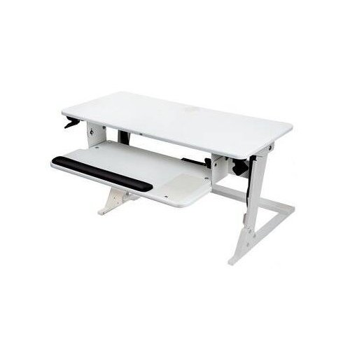 3M White Precision Standing Desk (SD60W) Image 1