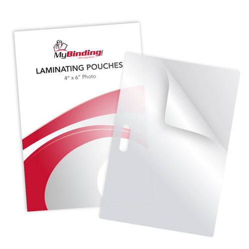 """3MIL 4"""" x 6"""" Photo Card Laminating Pouches with Long Side Slot - 100pk (LSLLKLP3PHOTO4X6) Image 1"""
