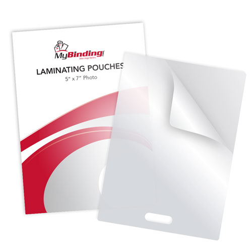 """3MIL 5"""" x 7"""" Photo Card Laminating Pouches with Short Side Slot - 100pk (SSLLKLP3PHOTO5X7), Pouches Image 1"""