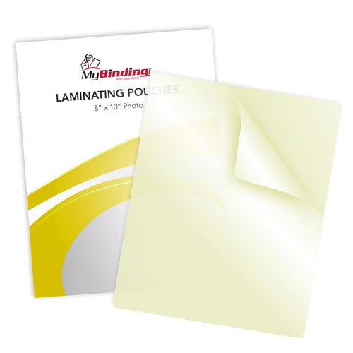 "3mil 8"" x 10"" Photo Size Sticky Back Laminating Pouches 100pk (LKLP3PHOTO8X10A) Image 1"