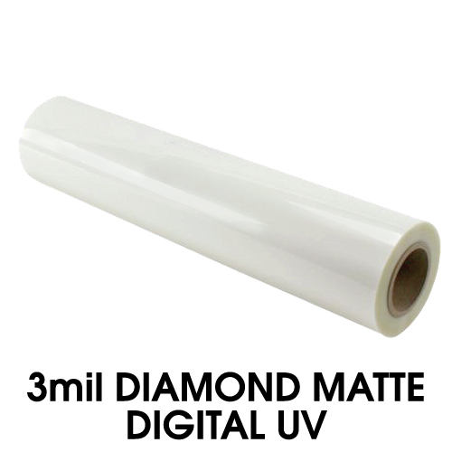 "3mil PlatinumUVR Matte Digital Wide Format Laminating Film - 43"" x 500' (3"" Core) (MYLFLML3430000500) Image 1"