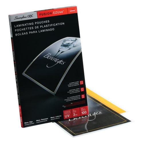 GBC Swingline EZUse 3mil Menu Size Thermal Laminating Pouches 100pk - C (3200720) Image 1