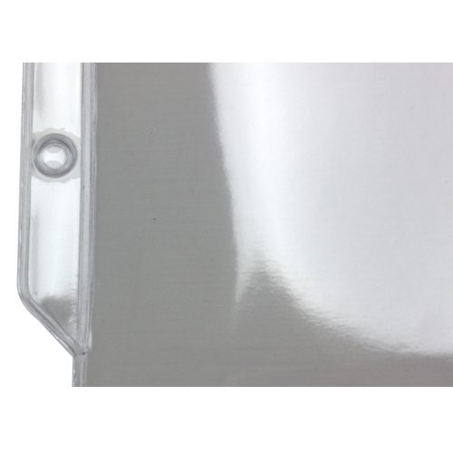 "4-1/2"" x 7-5/8"" Crystal Clear 3-Hole Punched Sheet Protectors (PT-1946) Image 1"
