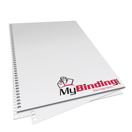 "11"" x 17"" 20lb 4:1 Coil 44-Oval Hole Pre-Punched Binding Paper - 500 Sheets (MY11X1744O.25PBP20RM) - $41.49 Image 1"
