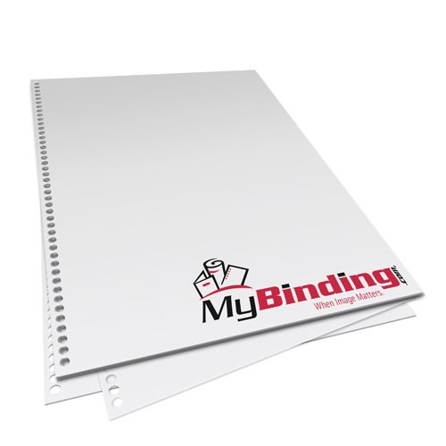 "11"" x 17"" 28lb 4:1 Coil 44 Hole Pre-Punched Binding Paper - 1250 Sheets (MY41C4411X17PP28CS), Binding Supplies Image 1"