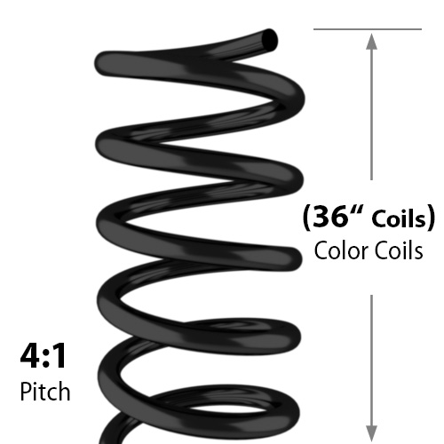 "36"" Spiral Binding Color Coil (4:1 Pitch) - 100pk (36-Inch-Spiral-Coil) Image 1"
