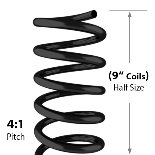 "9"" Spiral Coil Binding Supplies for Half Size Books - 100pk (9-Inch-Spiral-Coil) Image 1"