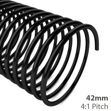 42mm 4:1 Pitch Plastic Spiral Binding Coil (MYSBC4-42MM) Image 1
