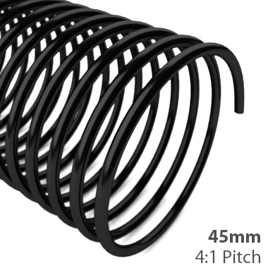 45mm 4:1 Pitch Plastic Spiral Binding Coil (MYSBC4-45MM) Image 1
