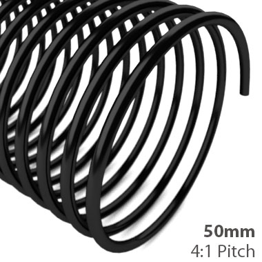 50mm 4:1 Pitch Plastic Spiral Binding Coil (MYSBC4-50MM) Image 1