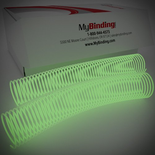 42mm Glow in the Dark 4:1 Pitch Spiral Binding Coil - 100pk (P4GID4212) Image 1
