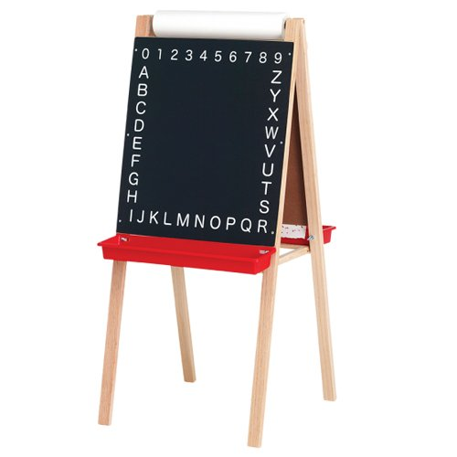 "Crestline 44"" x 19"" Dry-Erase/Alphabetic Chalkboard Child's Easel with Paper Roll (CL-17315)"