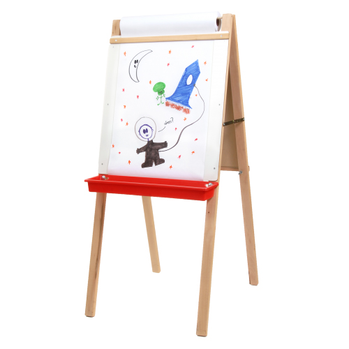 "Crestline 44"" x 19"" Dry-Erase/Chalkboard Child's Deluxe Easel with Paper Roll (CL-17237), Brands Image 1"