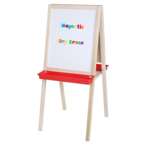 """Crestline 44"""" x 19"""" Magnetic Dry-Erase/Alphabetic Chalkboard Child's Easel (CL-17318) Image 1"""