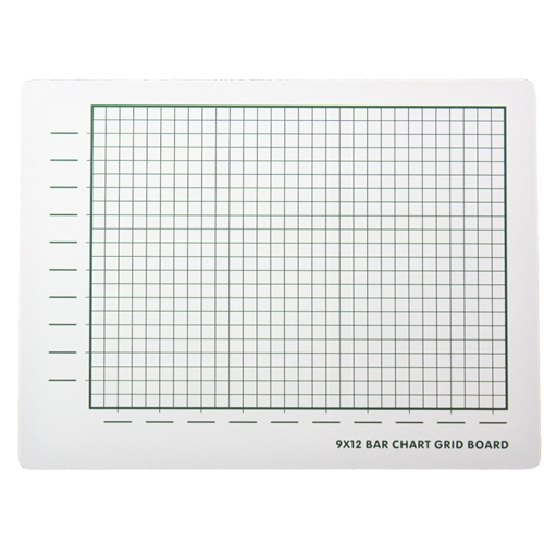 "Flipside 9"" x 12"" Two-Sided Bar Chart Grid/Plain Dry-Erase Lap Boards - 24pk (FS-44159) Image 1"