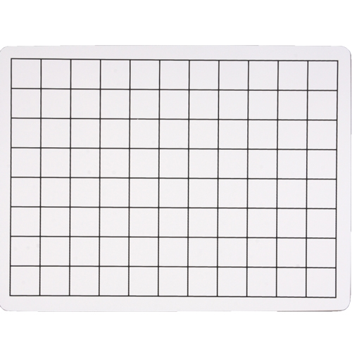 "Flipside 9"" x 12"" Two-Sided 1"" Squares Grid/Plain Dry-Erase Lap Boards - 24pk (FS-44459) Image 1"