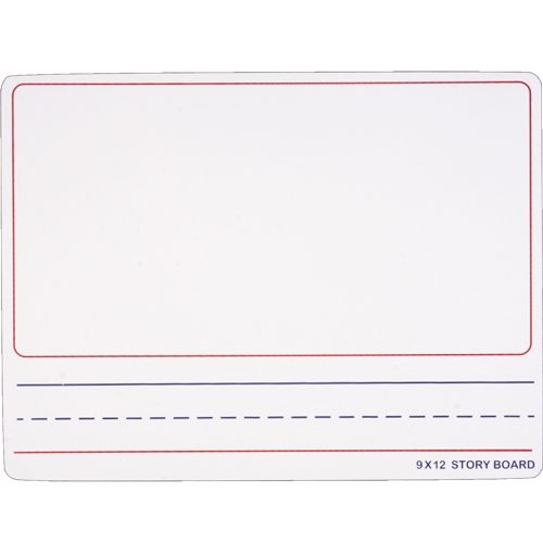 "Flipside 9"" x 12"" Two-Sided Story Dry Erase Lap Boards with Writing Lines - 24pk (FS-45259) Image 1"