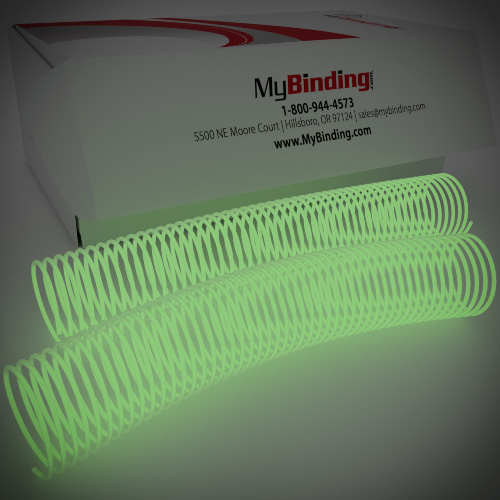45mm Glow in the Dark 4:1 Pitch Spiral Binding Coil - 100pk (P4GID4512) - $236.89 Image 1