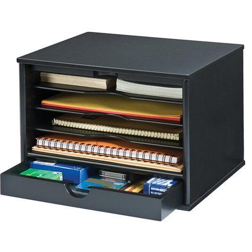 Victor Technology Desktop Organizer (Midnight Black) (4720-5) Image 1