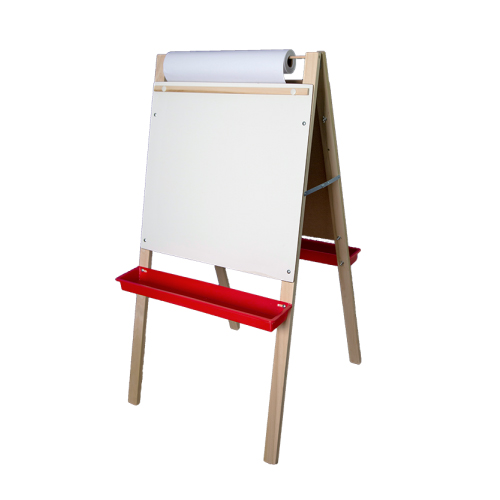 "Crestline 48"" x 24"" Adjustable Height Dry-Erase/Chalkboard Easel with Paper Roll (CL-17325) Image 1"