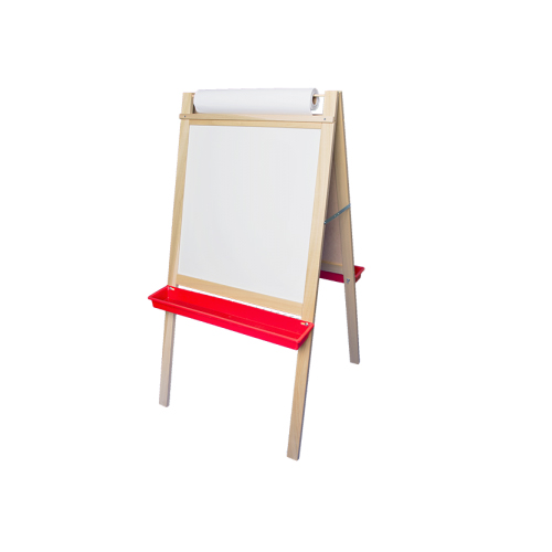 "Crestline 48"" x 24"" Deluxe Magnetic Dry-Erase/Chalkboard Easel with Paper Roll (CL-17343) Image 1"